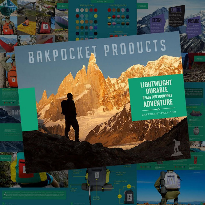 Bakpocket Products Catalog Design