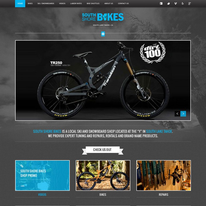 South Shore Bikes - Bike Shop Website