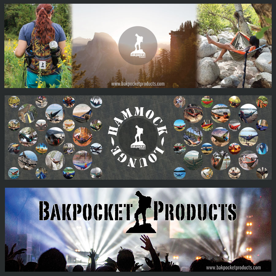Bakpocket Products Banner Designs