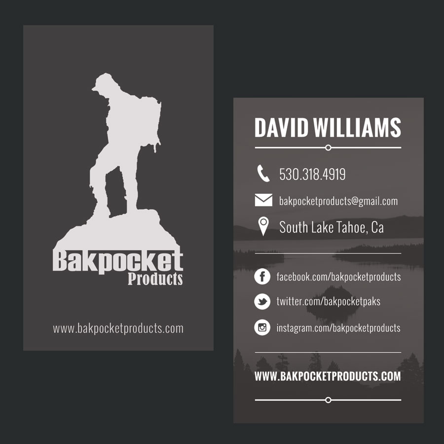Bakpocket Products Business Card Designs