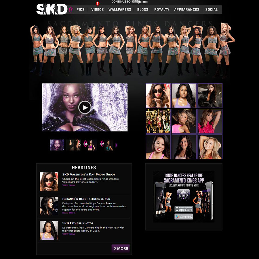Sacramento Kings Dance Team Website